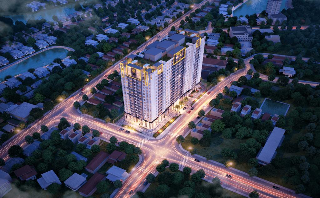 Phối cảnh tổng quan dự án chung cư cao cấp One 18 Long Biên