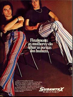 propaganda calças Sudamtex - 1971, Os anos 70.moda anos 70; 1971; propaganda anos 70; história da década de 70; reclames anos 70; brazil in the 70s; Oswaldo Hernandez