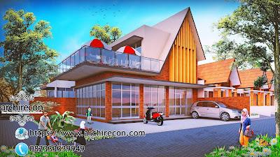 Desain Minimarket Bertema Pedesaan - Tampilan Depan