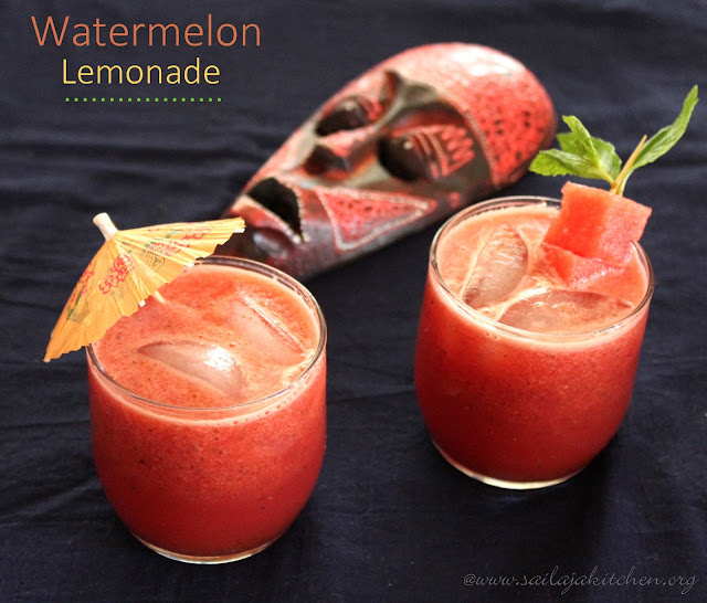 images of Watermelon Lemonade / Fresh Watermelon Lemonade Recipe- Summer Drinks