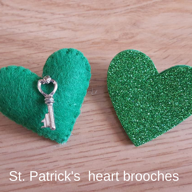 St. Patrick's heart brooches