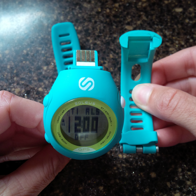 Running watch with USB