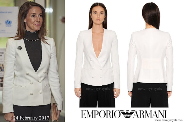 Princess Marie wore Emporio Armani-Stretch Viscose Tricotine Jacket