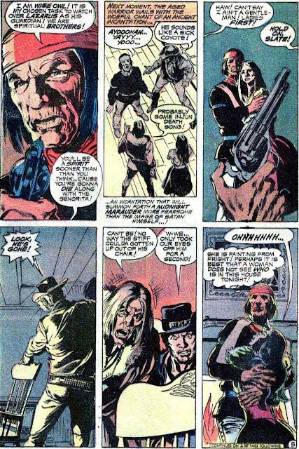 Weird Western Tales v1 #13 dc el diablo 1970s bronze age comic book page art by Neal Adams
