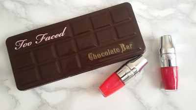 chocolate bar y lancome juicy shaker