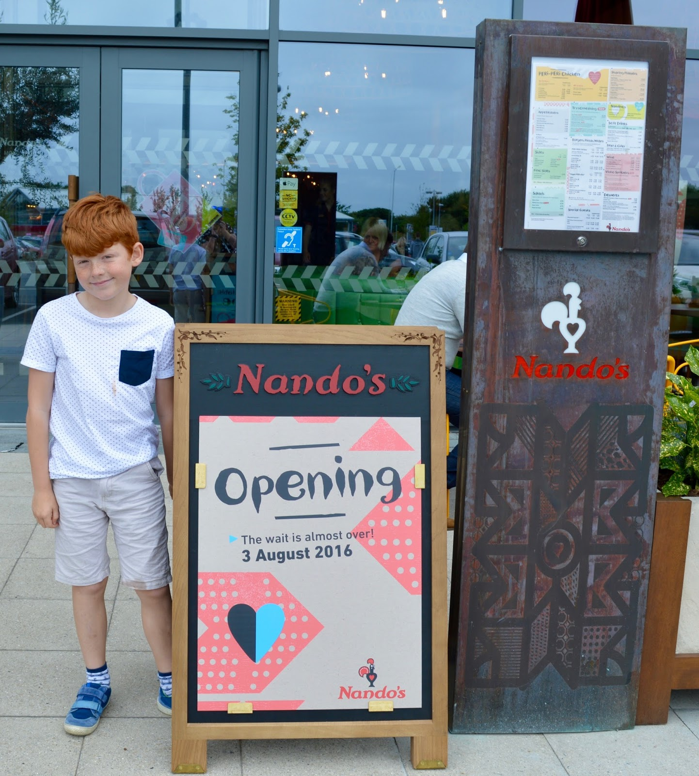 Nando's Cramlington Manor Walks - Opens 3rd August 2016. Children's menu review.