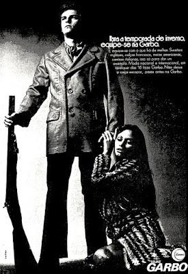Lojas Garbo, Moda anos 70; propaganda anos 70; história da década de 70; reclames anos 70; brazil in the 70s; Oswaldo Hernandez