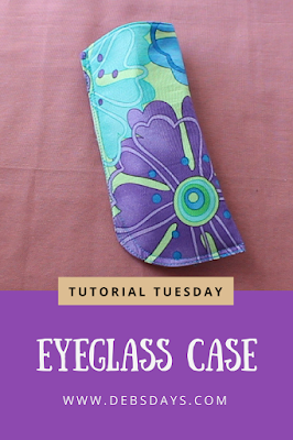 Homemade Easy Fabric Eyeglasses Case Sewing Project