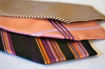 Alte Krawatten sind toll für Upcycling - hier: Ostereier
