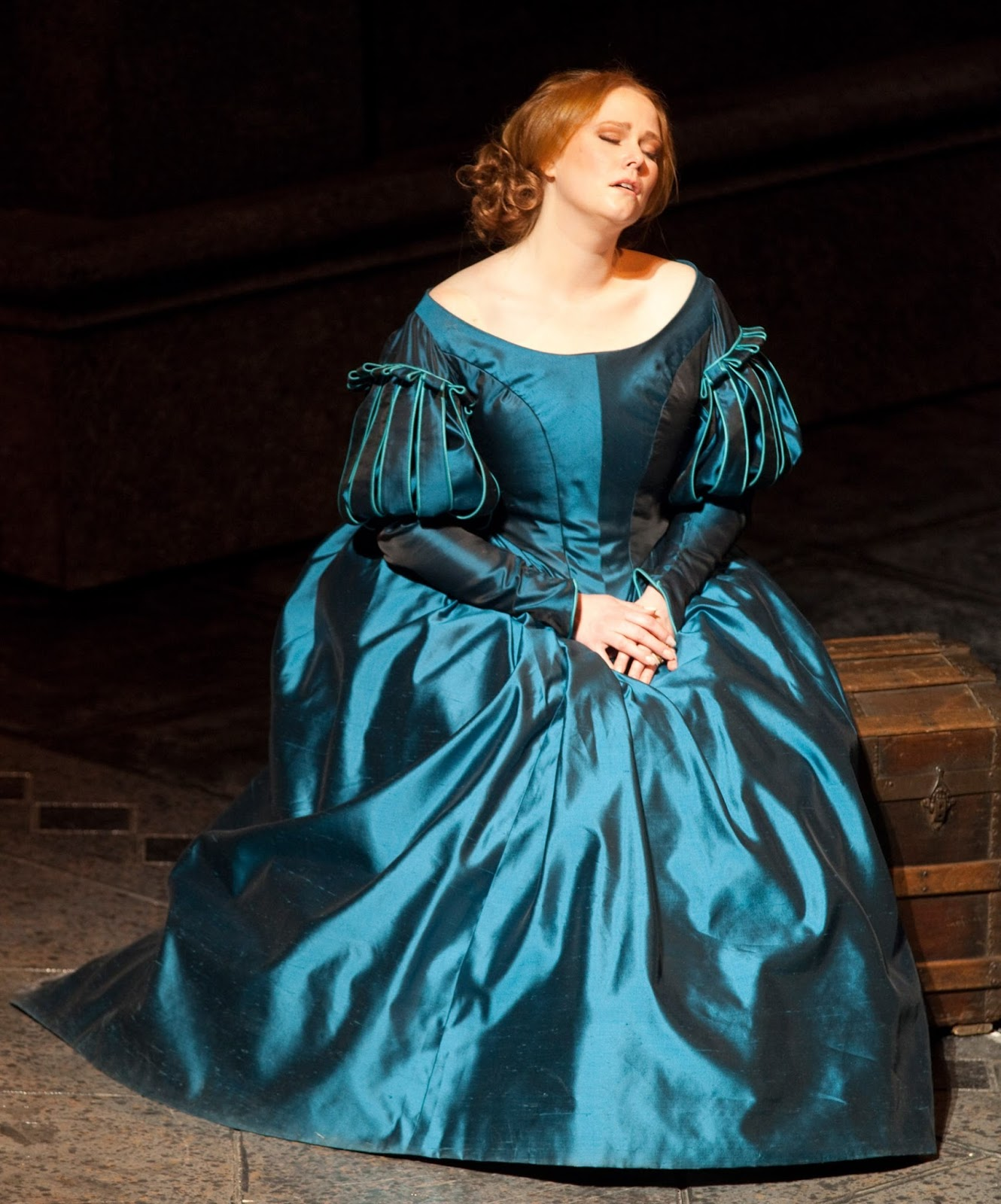 SINGER SPOTLIGHT: Soprano JESSICA PRATT in the title rôle of Gaetano Donizetti's LUCIA DI LAMMERMOOR at Teatro di San Carlo in Naples, Italy [Photo by Luciano Romano, © by Teatro di San Carlo]