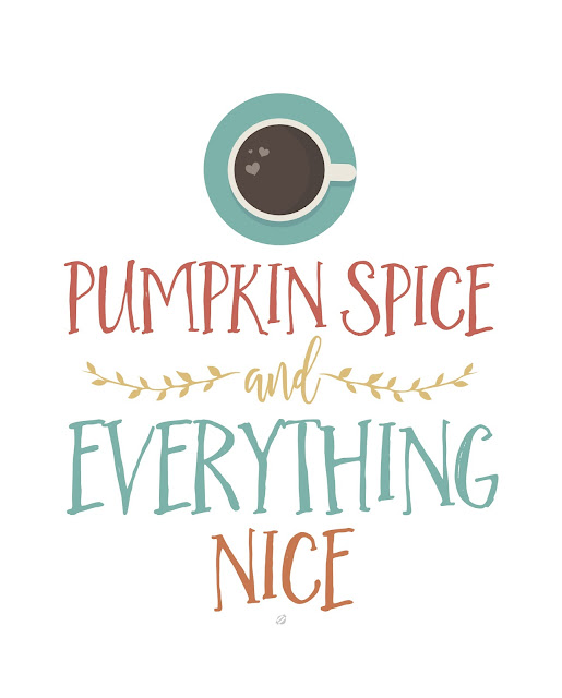 LostBumblebee ©2017 MDBN Pumpkin Spice Printable, Free Printable, coffee, tea, pumpkin, fall,  Personal Use Only