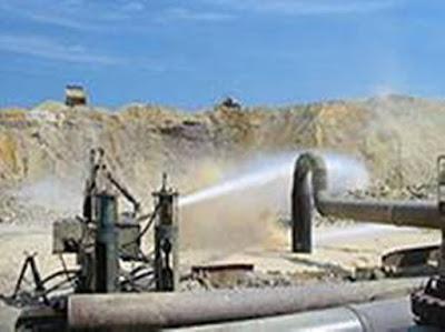 pompa monitor penambangan pasir besi