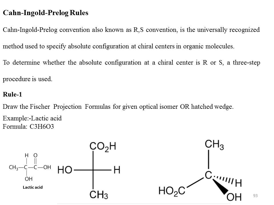 Sayad Imran`s Pharmaceutical Organic Chemistry: Cahn-Ingold