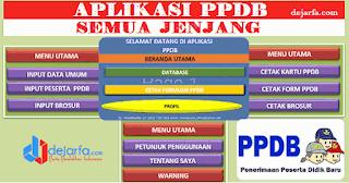 Aplikasi PPDB Excel SD SMP SMA SMK tahun 2017/2018 Sesuai Dapodik dejarfa.com