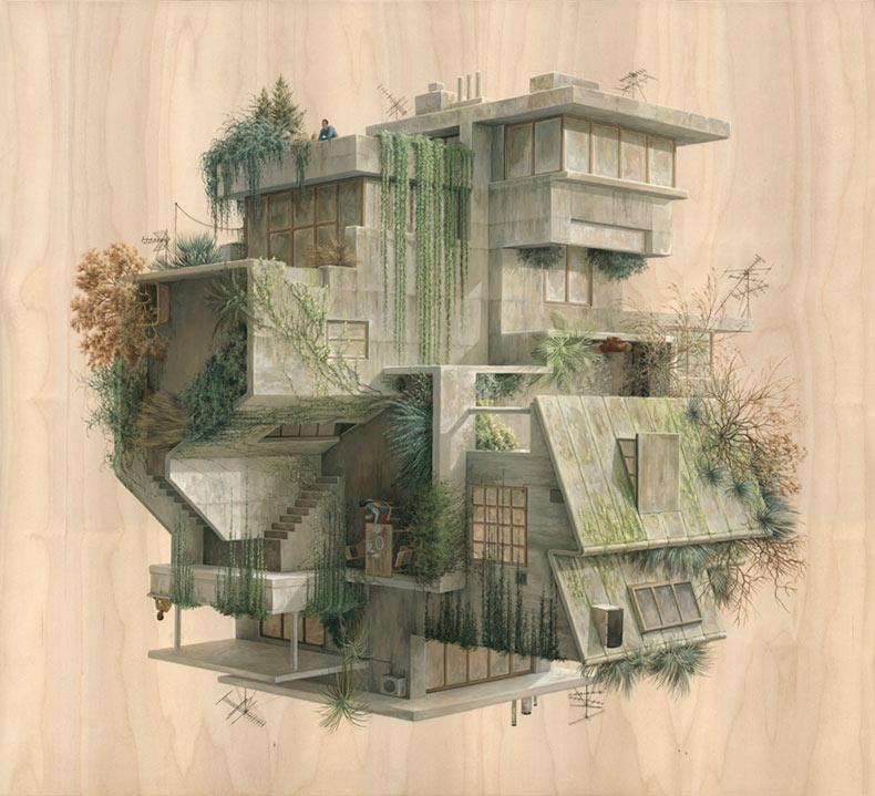 Nuevos dibujos de arquitectura surrealista de Cinta Vidal Agulló