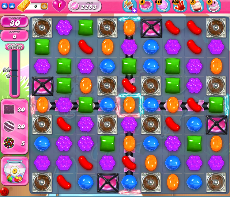 Candy Crush Saga level 2253