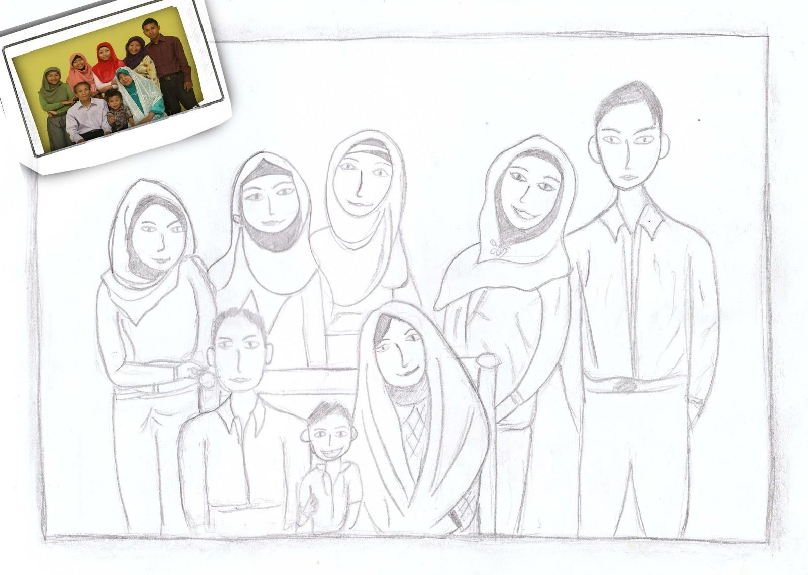 Kumpulan Gambar Sketsa Keluarga Besar Aliransket