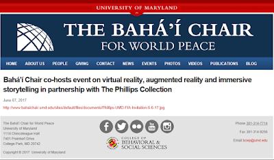 Новость о проведенном мероприятии на странице кафедры бахаи
