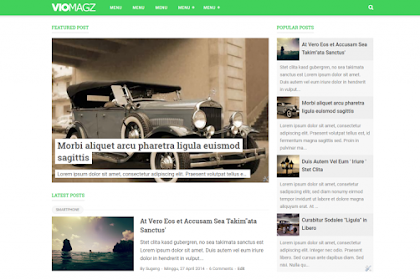 VioMagz, Template Blogger Keren Penerus Evo Magz
