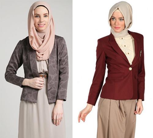 model baju dinas wanita berjilbab
