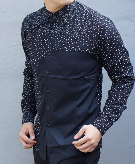 Baju Batik Lengan Panjang Vector: 10 Model Baju Batik Pria Lengan Panjang Kombinasi Kain