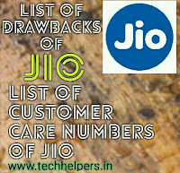 Back draws and customer care numbers of reliance jio
