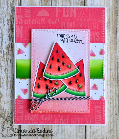 Thanks a Melon by Amanda featuring Sweet Summer Newton's Nook, #Newtonsnook