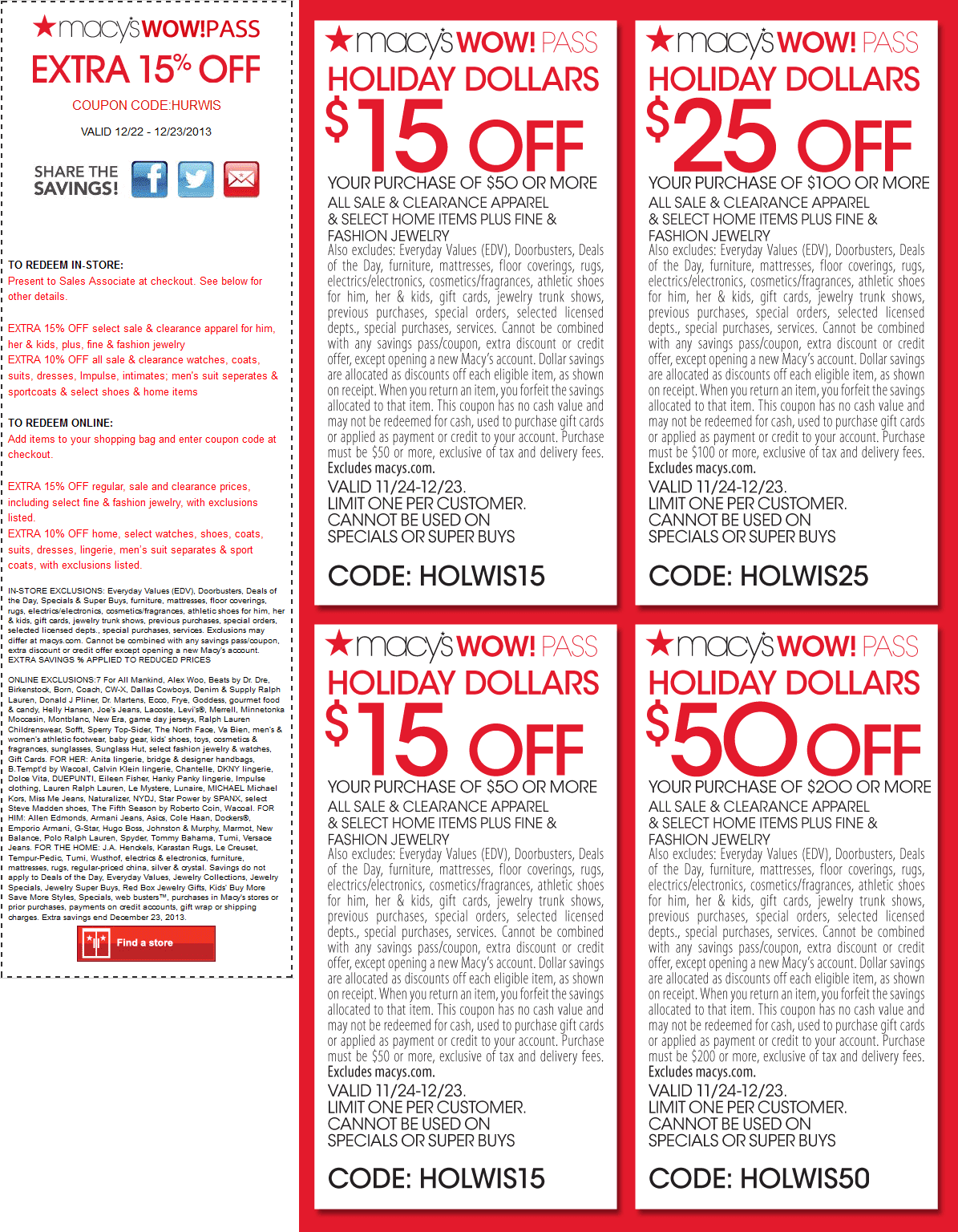 Current macys coupons