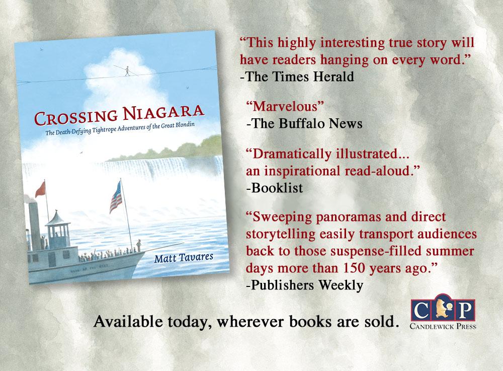 matt tavares books crossing niagara comes out today