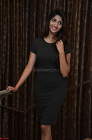 Priya Vadlamani super cute in tight brown dress at Stone Media Films production No 1 movie announcement 045.jpg