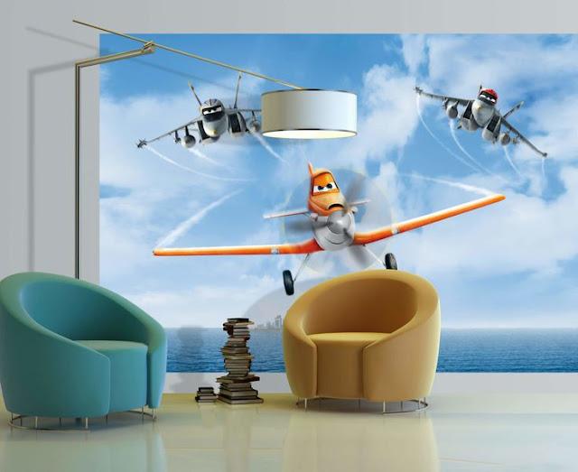 Disney tapet flygplan planes fototapet barnrum barn tapet kille pojktapet