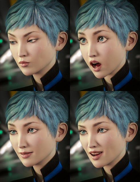 Expressions for Aiko 7 and Genesis 3 Female