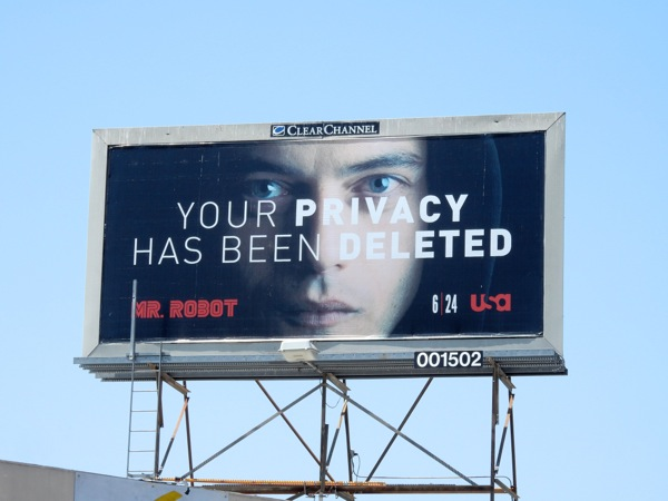 Your privacy deleted Mr Robot billboard