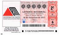 detalle de un décimo de la loteria nacional de los sabados