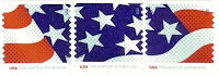 Stars and Stripes stamp in three designs