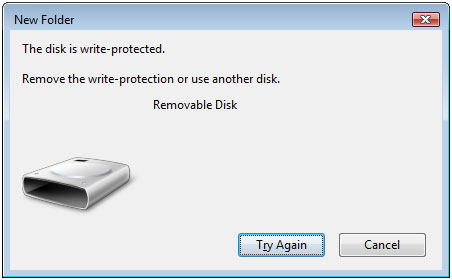 Flashdisk Write Protected