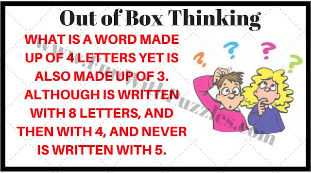 Out of box thinking mind teaser