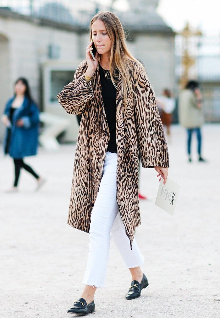How to Wear a Leopard Print Coat for Fall – Jennifer Neyt French Street Style