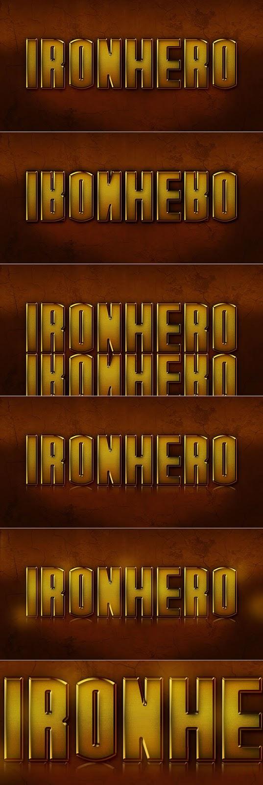 Efek Text IRON HERO