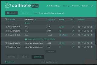 برنامج, مميز, لتسجيل, مكالمات, ومحادثات, فسيبوك, وسكايب, Callnote