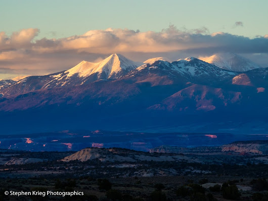 La Sal Mountains Springtime Sunset