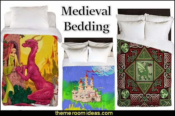 dragons medieval knights castle duvet bedding