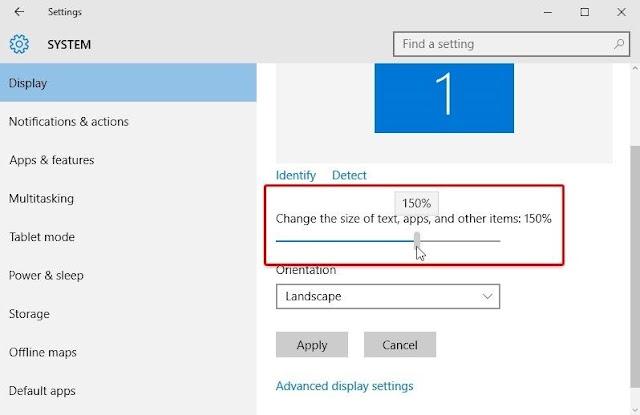 Cara Merubah Ukuran Font di Windows 10 - 3