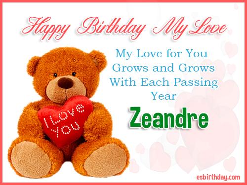 Zeandre Happy Birthday My Love