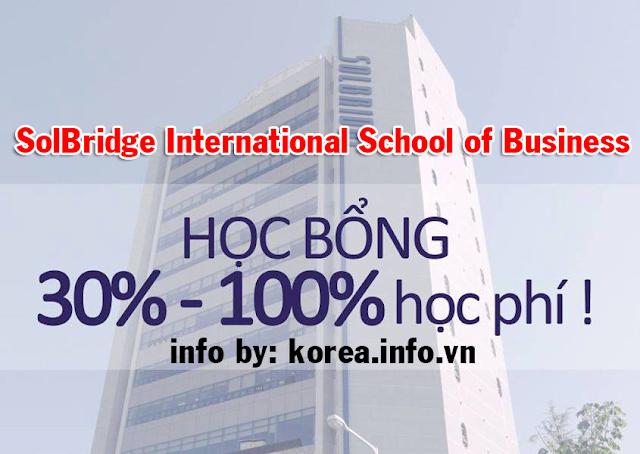 Học bổng 30-100% học phí tại Trường đại học SolBridge Hàn Quốc