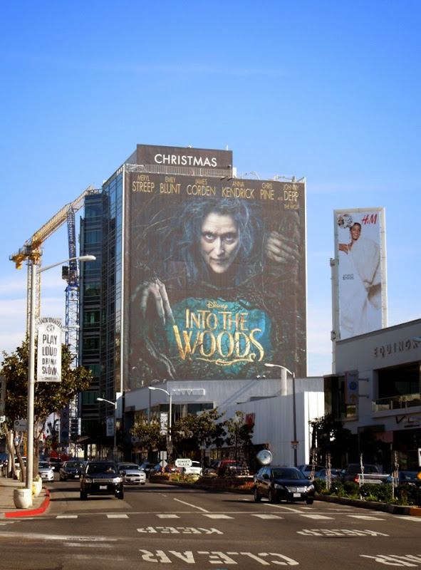 Giant Meryl Streep Into the Woods movie billboard