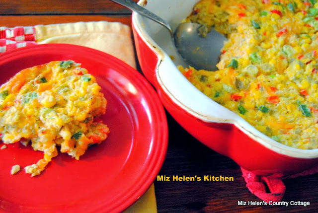 Corn and Green Chili's Casserole at Miz Helen's Country Cottage