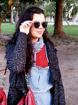Óculos flat preto e dourado