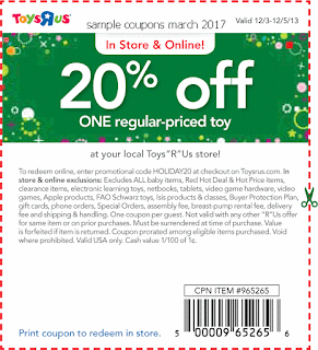 Toys R Us coupons march 2017