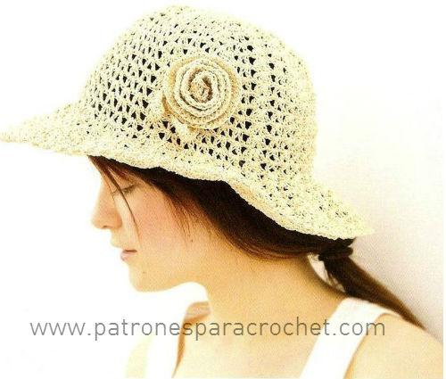 63a4de4c3e9c4 7 Patrones de Sombreros muy femeninos para tejer al Crochet
